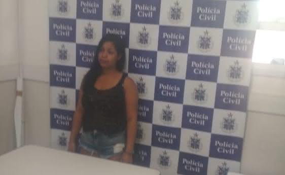 Evlin Soares da Silva é suspeita de praticar o crime - Foto: Polícia Civil