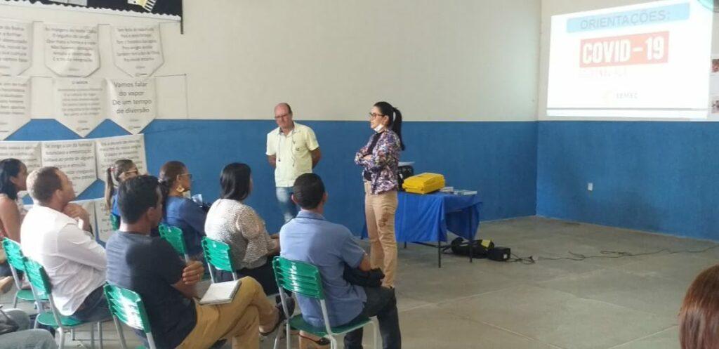 Secretária Edésia reúne com diretores nesta terça-feira(17).Foto:Divulgação.